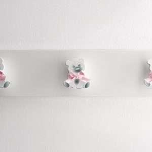 Appendiabiti Collezione Orsetto Rosa