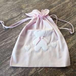 Sacchetto Prima Nascita Orso Bimba Rosa