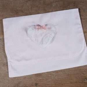 Sacchetto Prima Nascita Portafoglio Tulle Rosa