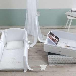 Set Culla Deluxe Collezione Orsetto Bianco